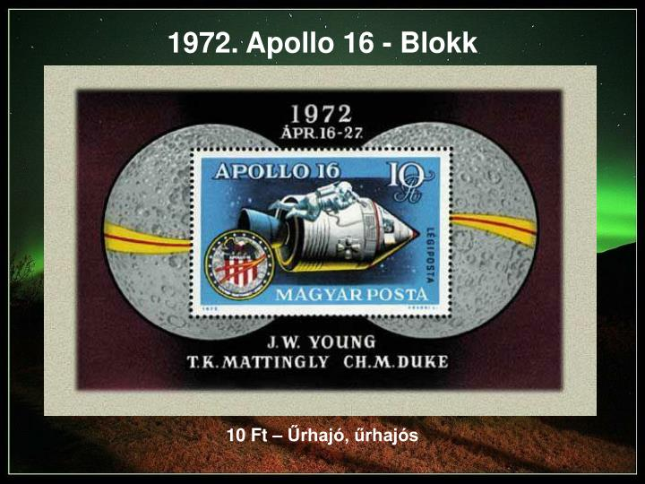 1972. Apollo 16 - Blokk