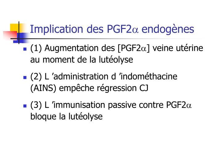 Implication des PGF2