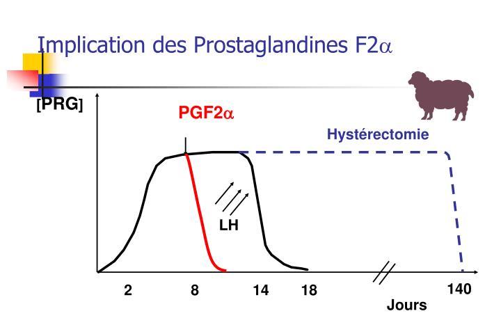 Implication des Prostaglandines F2