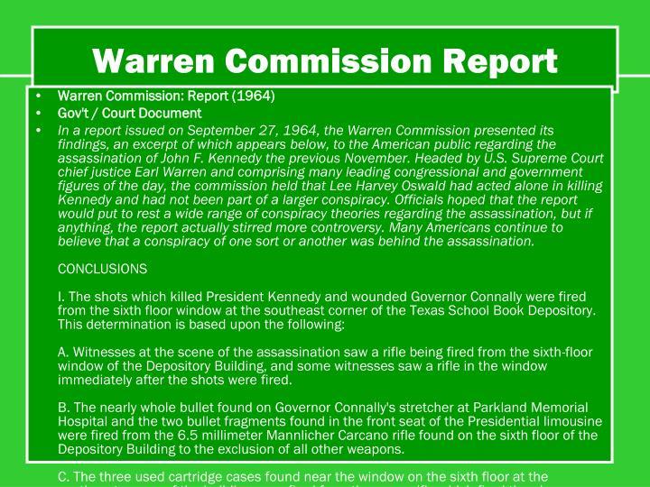 Warren Commission Report