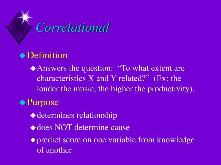 Correlational