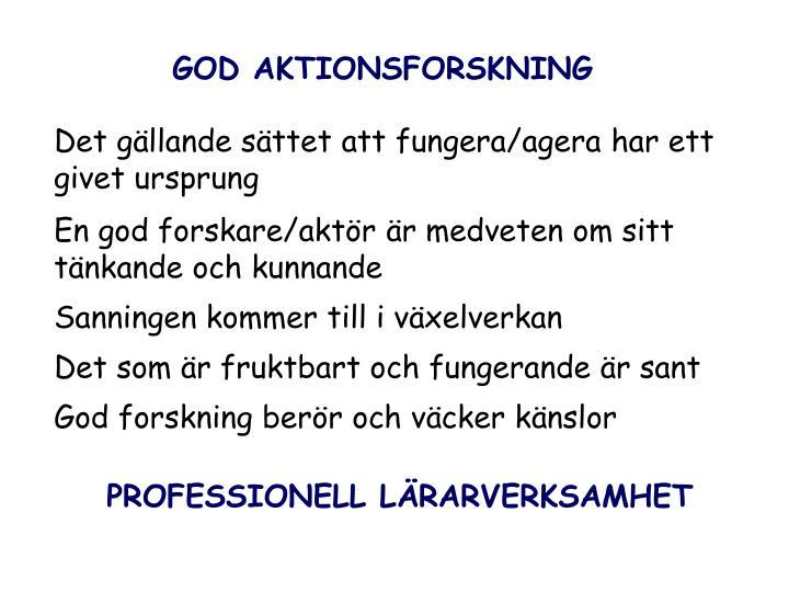 GOD AKTIONSFORSKNING