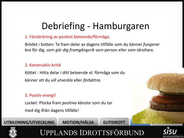 Debriefing - Hamburgaren