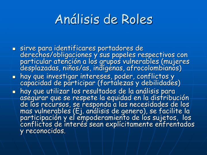 Análisis de Roles