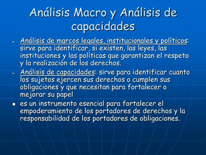 Análisis Macro y Análisis de capacidades