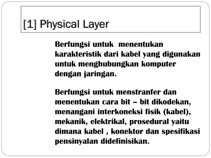 [1] Physical Layer