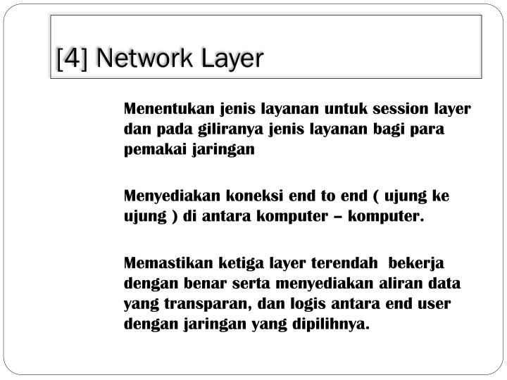 [4] Network Layer