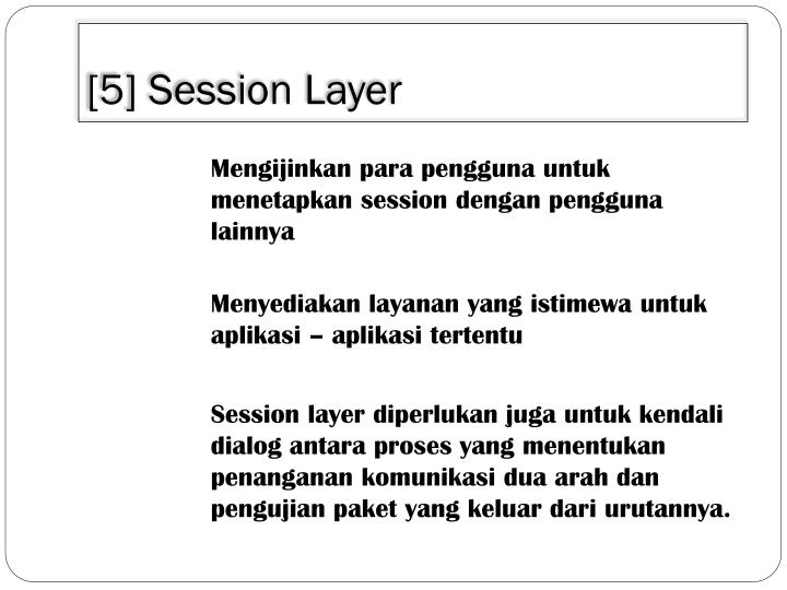 [5] Session Layer