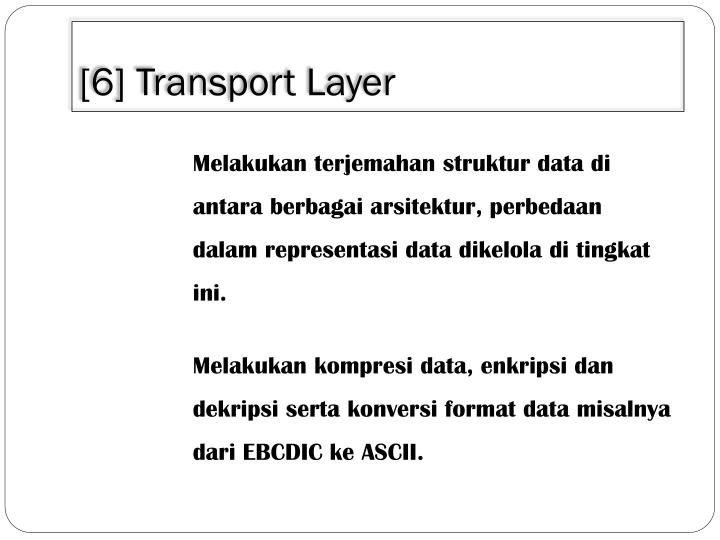[6] Transport Layer
