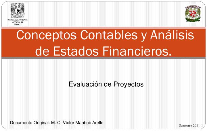 Conceptos contables y an lisis de estados financieros