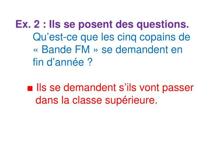 Ex. 2 : Ils se posent des questions.