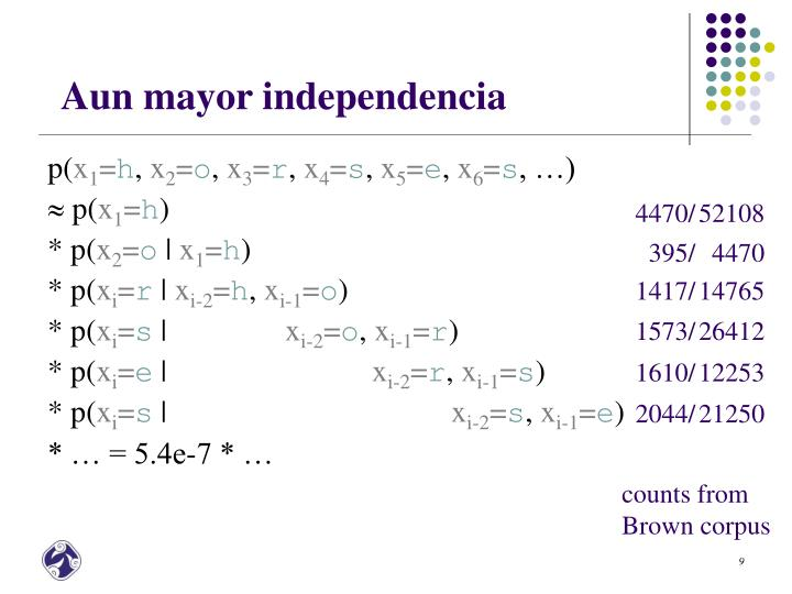 Aun mayor independencia