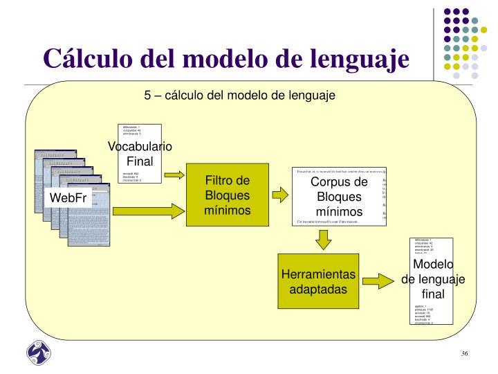 5 – cálculo del modelo de lenguaje