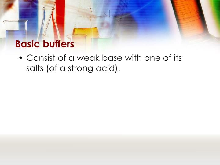Basic buffers