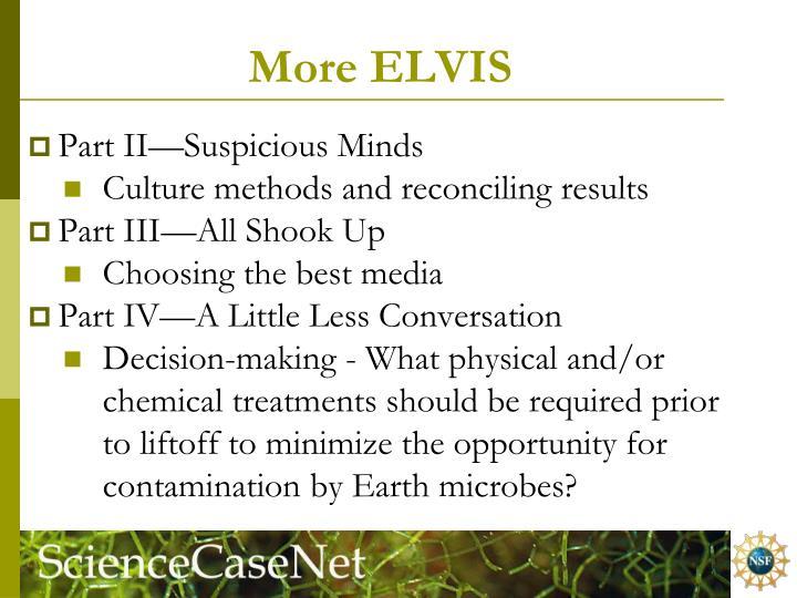 More ELVIS