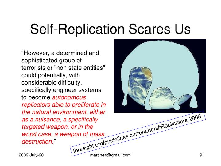 Self-Replication Scares Us