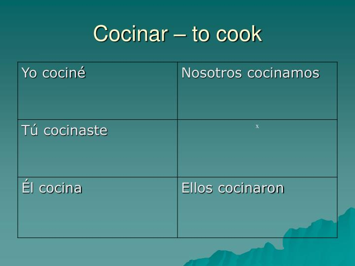 Cocinar – to cook