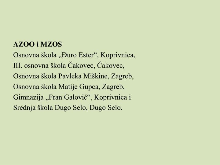AZOO i MZOS