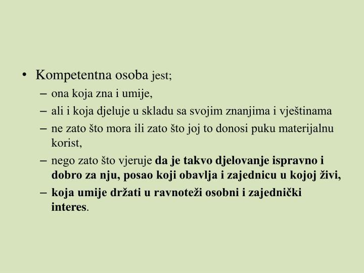 Kompetentna osoba