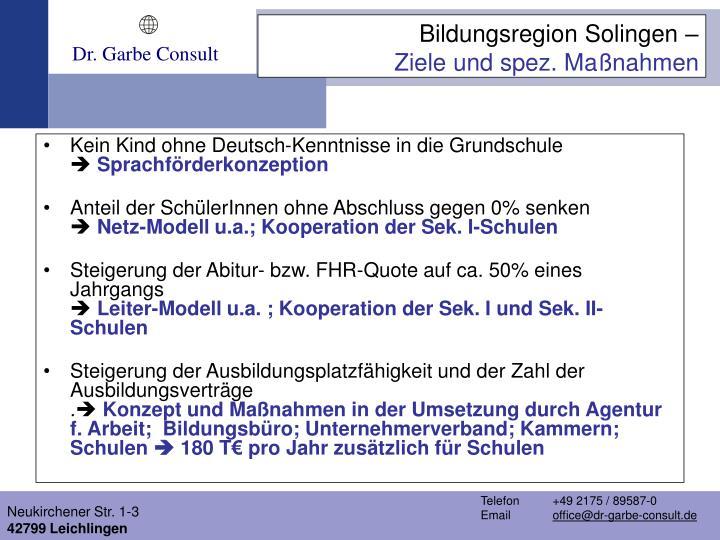 Kein Kind ohne Deutsch-Kenntnisse in die Grundschule