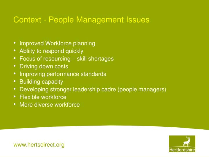 Context - People Management Issues