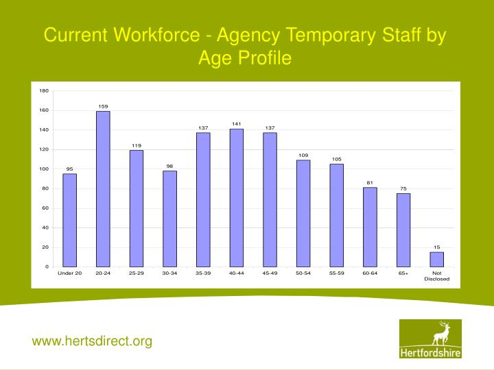 Current Workforce - Agency Temporary Staff by Age Profile
