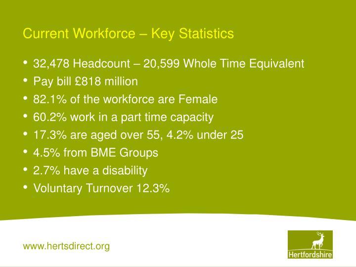 Current Workforce – Key Statistics