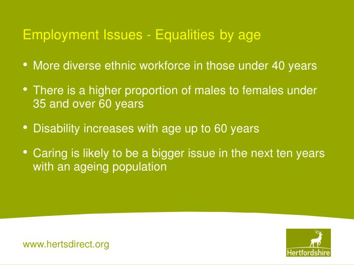 Employment Issues - Equalities