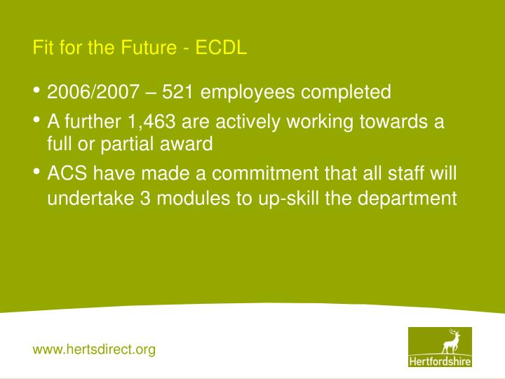 Fit for the Future - ECDL