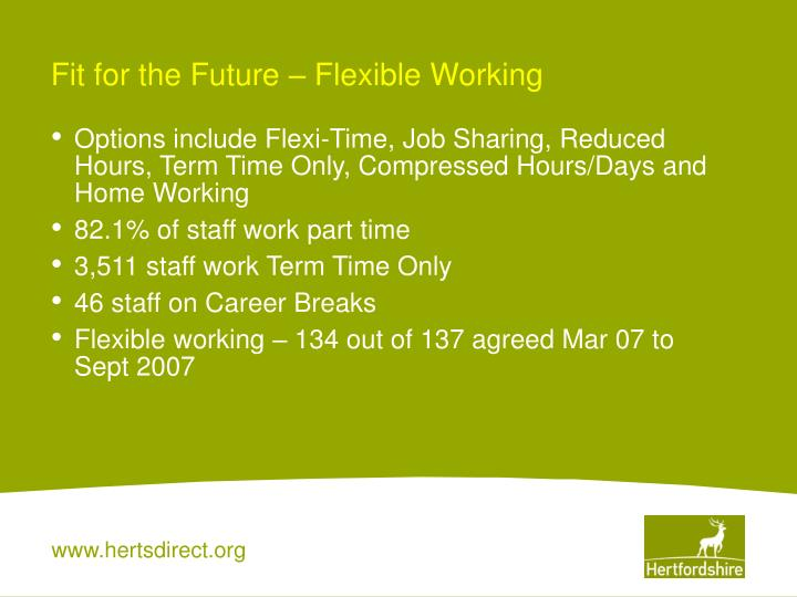 Fit for the Future – Flexible Working