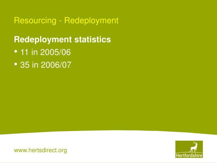 Resourcing - Redeployment