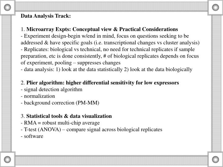 Data Analysis Track: