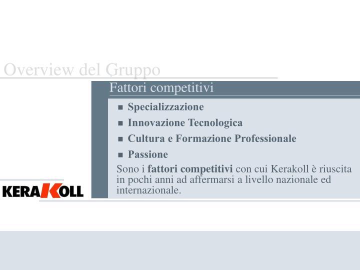 Overview del Gruppo