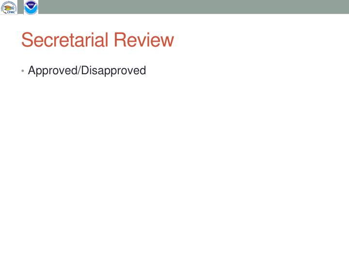 Secretarial Review