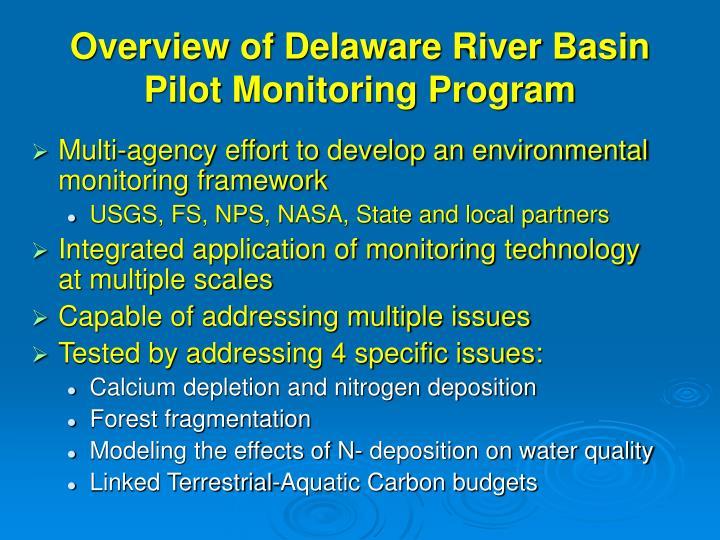 Overview of Delaware River Basin Pilot Monitoring Program
