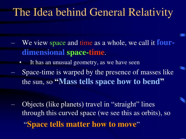 The Idea behind General Relativity