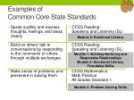 examples of common core state standards