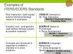 examples of iters ecers standards