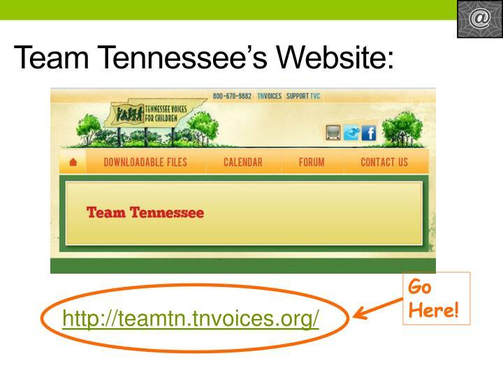 Team Tennessee's Website: