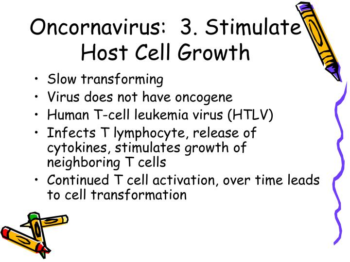 Oncornavirus:  3. Stimulate Host Cell Growth