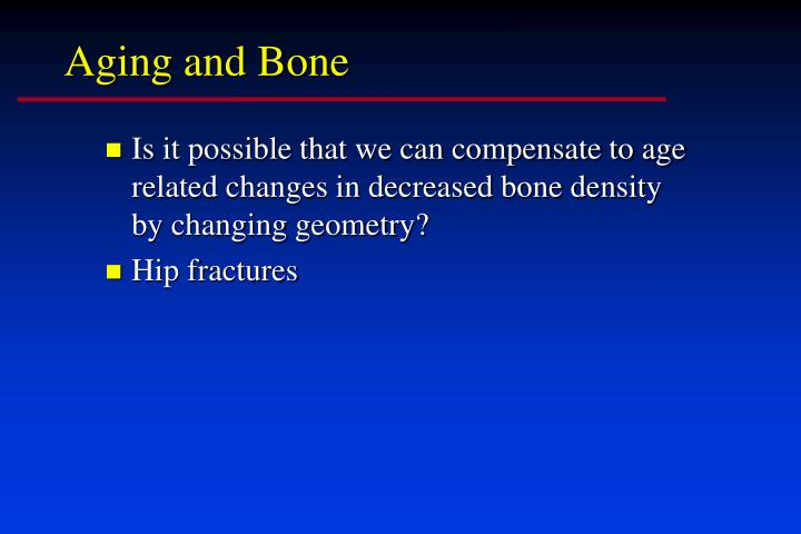 Aging and Bone