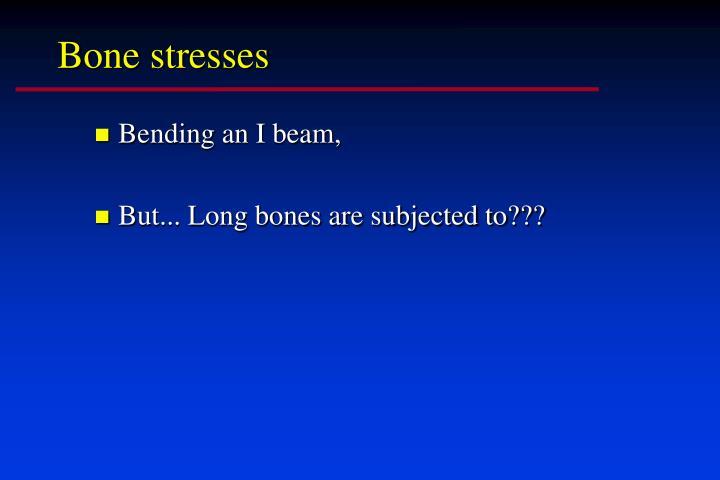 Bone stresses