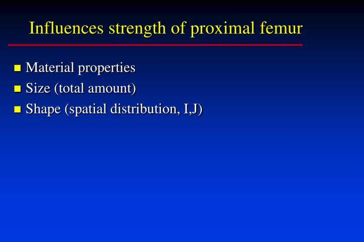 Influences strength of proximal femur