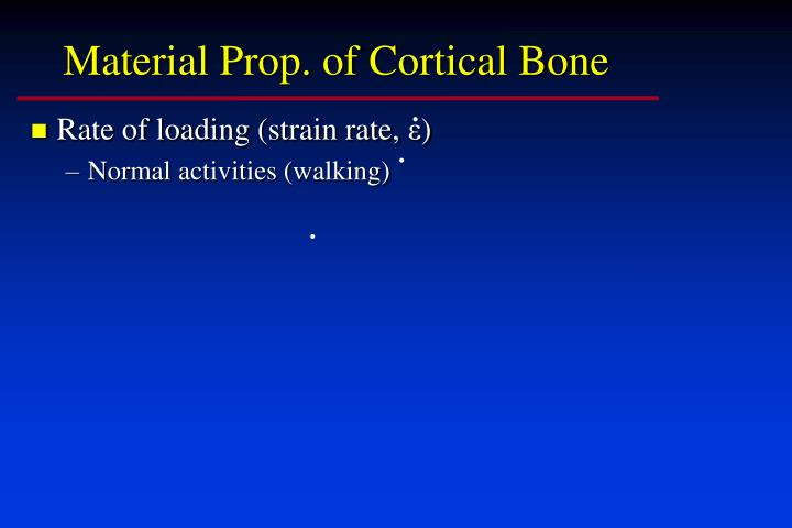Material Prop. of Cortical Bone