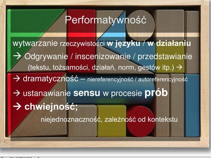 Performatywność