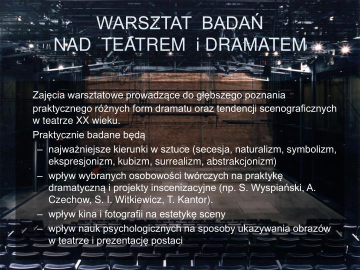 WARSZTAT  BADAŃ
