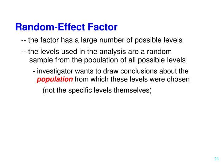 Random-Effect Factor