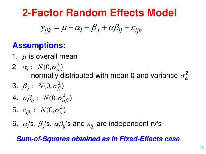 2-Factor Random Effects Model