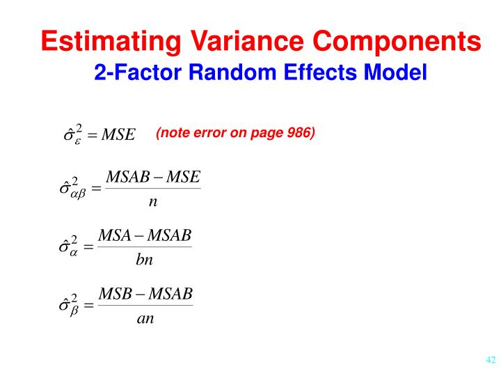 Estimating Variance Components
