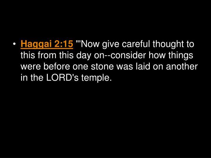 Haggai 2:15